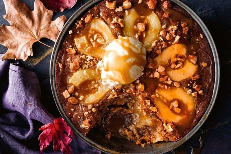El pudin de pera facil es una receta casera especial para la merienda.
