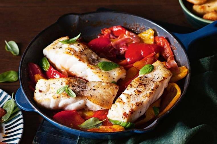 pescado con salsa de pimenton