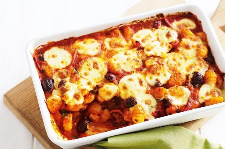 Los gnocchi con mozzarella y tomate son fáciles de hacer.