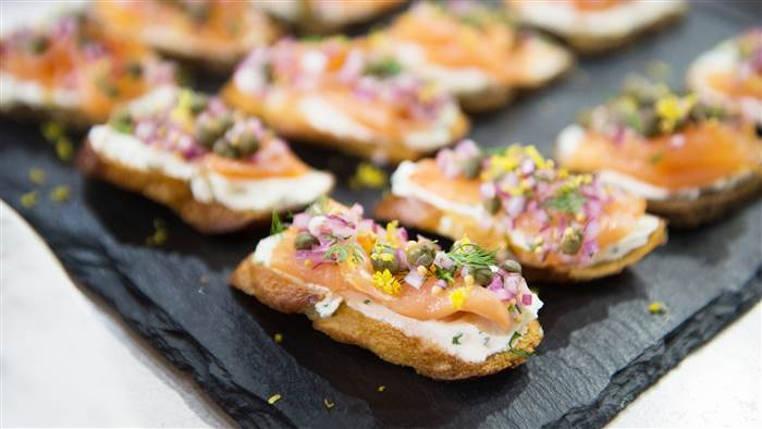 Tortitas de salmon ahumado