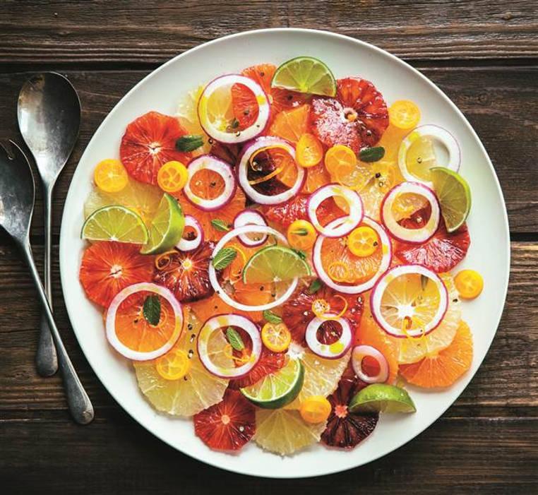 ensalada de frutas citricas