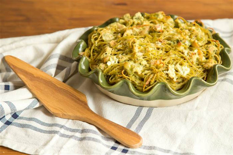 pastel de espaguetis