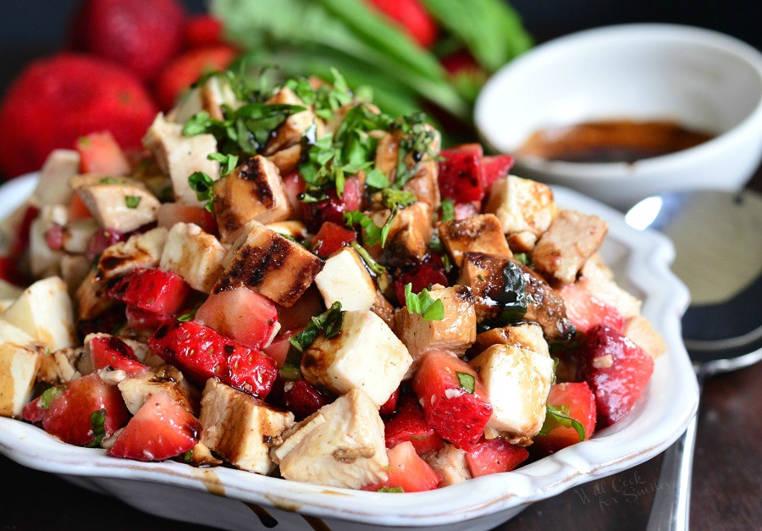 pollo con salsa de balsamico