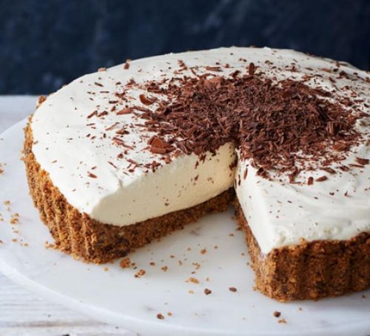 La tarta de crema rusa es ideal para uina tarde de café.