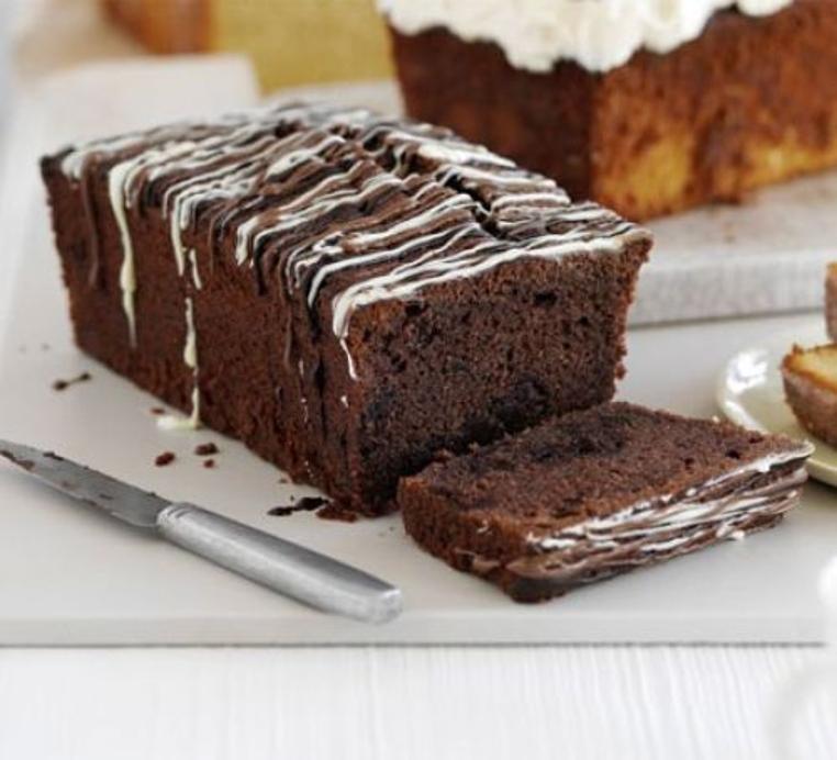 receta de bizcocho de doble chocolate