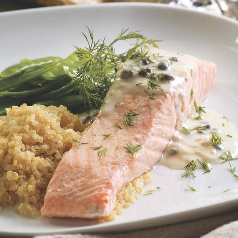 salmon escalfado