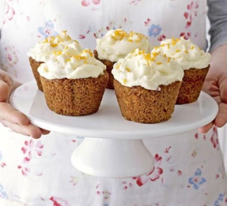 cupcakes de zanahoria y queso crema