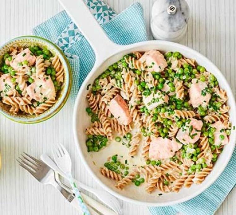 receta de pasta con salmon y verduras