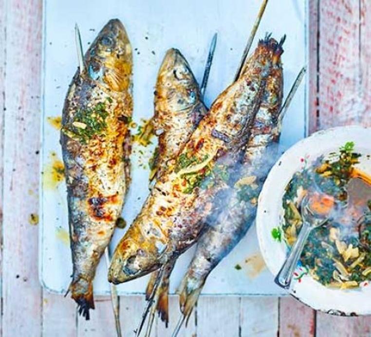 receta de sardinas con salsa barbacoa