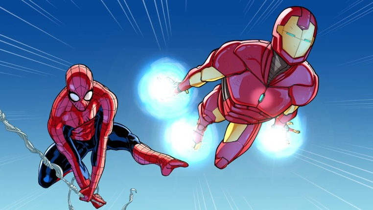 Spiderman en Iron Man