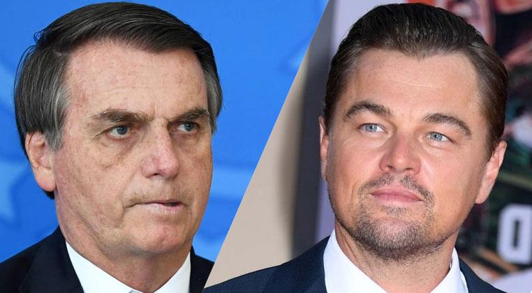 Jair Bolsonaro en contra de Leonardo DiCaprio