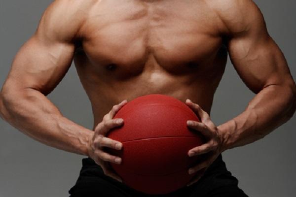 abdominales con el balon medicinal