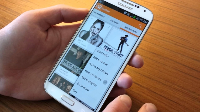 Los dispositivos Samsung tendrá como reproductor predeterminado a Google Play Music.
