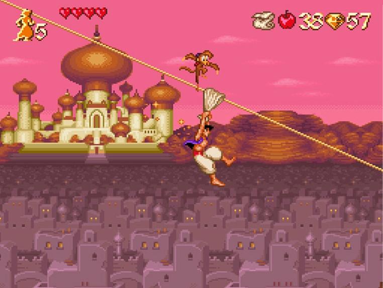 Aladdin es uno de los juego de la nueva mini Super Nintendo Entertainment System que no deberían volver.