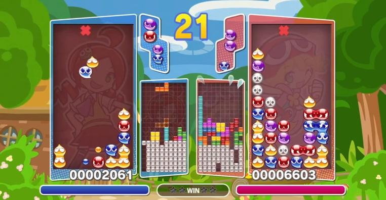 El videojuego Puyo Puyo Tetris de Sega tendrá restricciones en el occidente.
