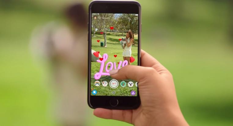 nuevos filtros 3D de snapchat
