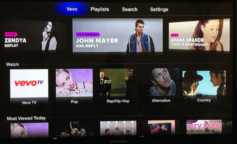 Lo nuevo de tvOS de Vevo trae vídeos y programas para los usuarios.