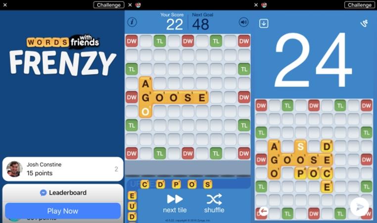 WWF es el juegos de Facebook Messenger es divertido y fácil de jugar.