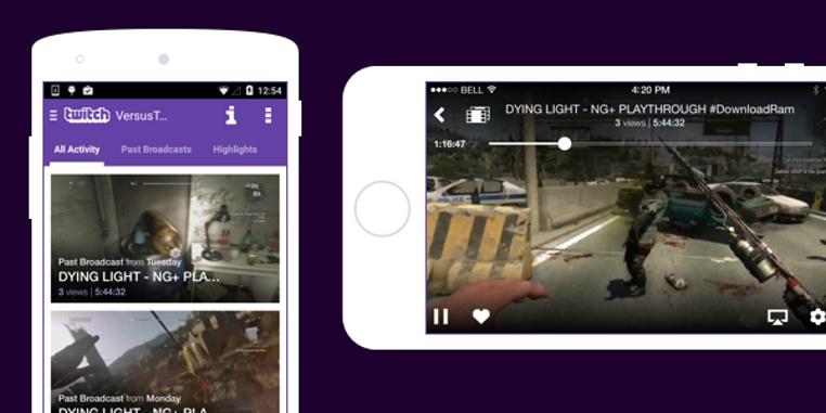 aplicación Twitch para Android