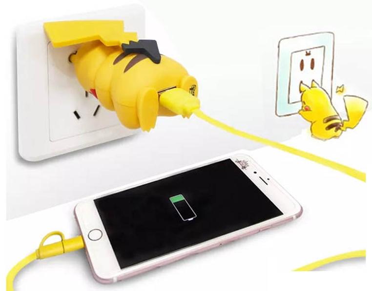 El nuevo cargador de pikachu es peculiar.