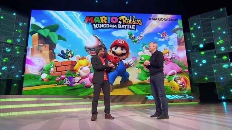 Ubisoft y Nintendo se aliaron para crear el juego Mario + Rabbids Kingdom Battle.